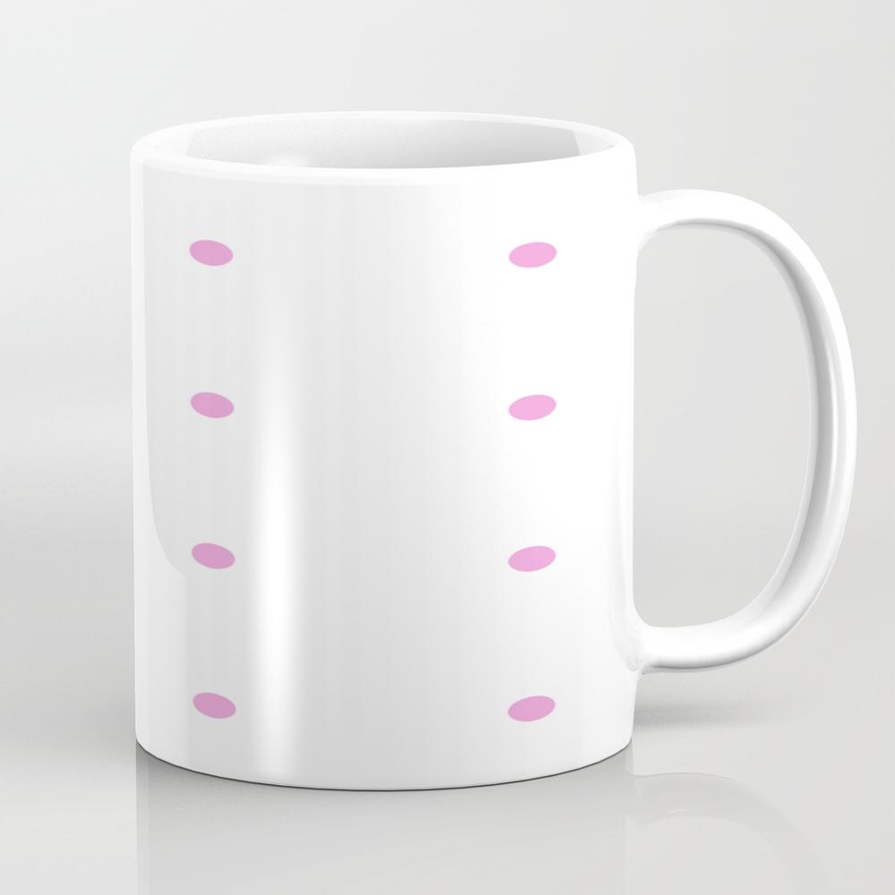 Pink Dots Tea Cup by Violetheavensky MUG7651785