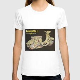 1959 Lambretta Li, dalla Innocenti Scooter Motorcycle Vintage Poster T-shirt