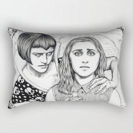 The Girl Who Had No Voice Rectangular Pillow
