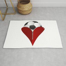 Love Soccer Rug
