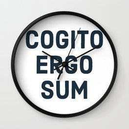 COGITO ERGO SUM René Descartes Wall Clock