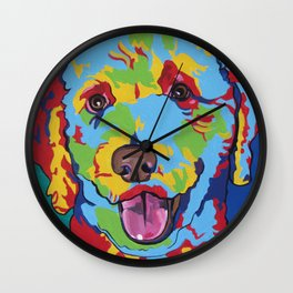 Millie the Curly Dog Wall Clock