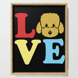 Goldendoodle Love Cute Doodle Dog Owner Poodle Pet Serving Tray