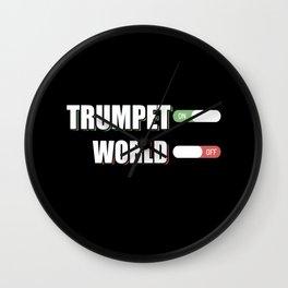 Trumpet Musician Musical Instrument Trumpeter Jazz Wall Clock