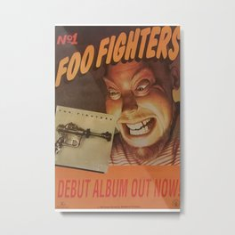 FOO FIGH TERS 1995 - Debut Album - authentic poster, music ori ginal vintage, promo poster page, rock music poster, no repro duc tion - RAC1 Metal Print
