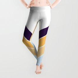 V Shape Colorful Retro Stripes Seonangsin Leggings