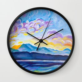 Jetstream and Comox Glacier Wall Clock