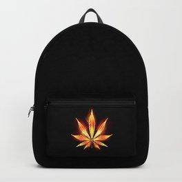 Cannabis Fire Leaf Backpack