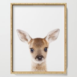 Baby Deer, Baby Animals Art Print By Synplus Serving Tray