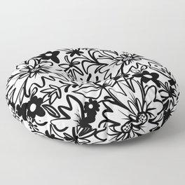 Sketchbook Florals {1} Floor Pillow
