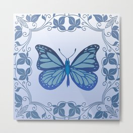 Butterfly Nucleus Metal Print