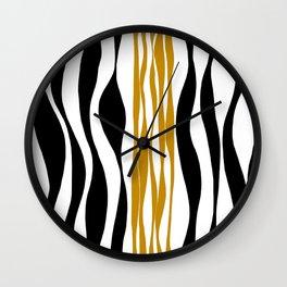 Ebb and Flow - Dark Yellow Wall Clock