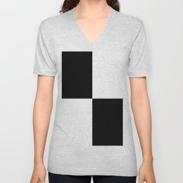 Black White White Black Unisex V-Neck