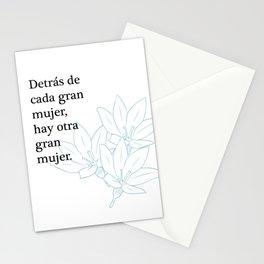 Detrás de cada mujer Stationery Cards