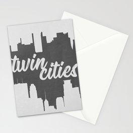Twin Cities Minneapolis Saint Paul Minnesota Black and White Stationery Cards