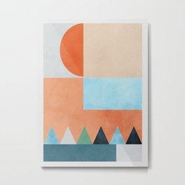 mid century modern composition Metal Print