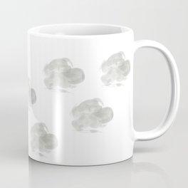 Horizontal elongated rounded light gray cloud Coffee Mug