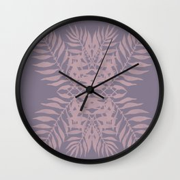 Bohemian tropics leaves Wall Clock