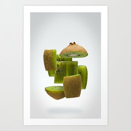 Flying Kiwifruit Art Print