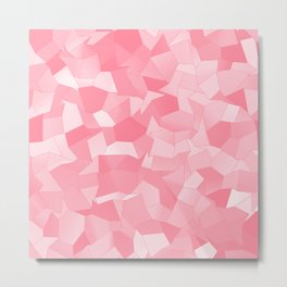 Geometric Shapes Fragments Pattern pw Metal Print