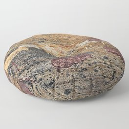 African Prehistoric Rock Art Painting Cattle Floor Pillow