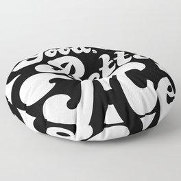 Good Better Mee lettering Floor Pillow