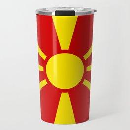 Macedonian Flag - Flag of Macedonia Travel Mug