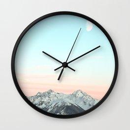 Mountains Landscape Wall Clock