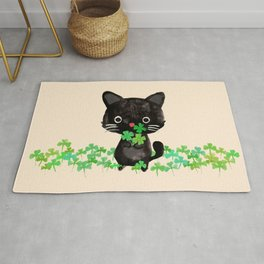 The Luckiest Cat Rug