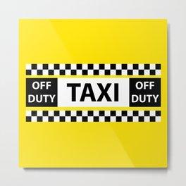 New York Taxi Metal Print