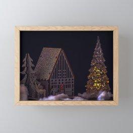 Concept Christmas : The xmas barn Framed Mini Art Print