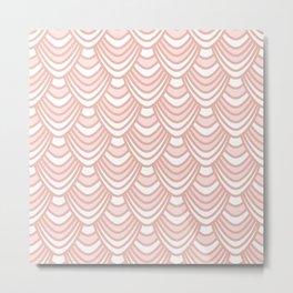 Sync in Pink Metal Print