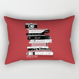 # BOOKSTAGRAM (Burgundy) Rectangular Pillow