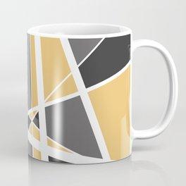 Geometric Triangles Mikado - grey yellow Coffee Mug