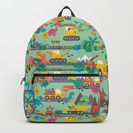 Dinosaur Construction Crew Pattern Backpack
