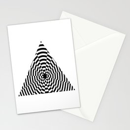 Monochrome Daze Black and White Triangle Stationery Cards