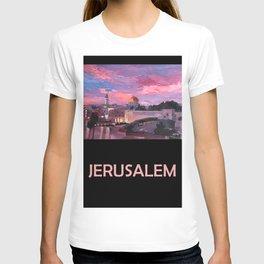 Retro Travel Poster Jerusalem T-shirt