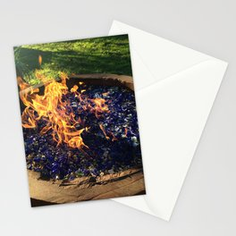 Fire on Blue Stationery Cards