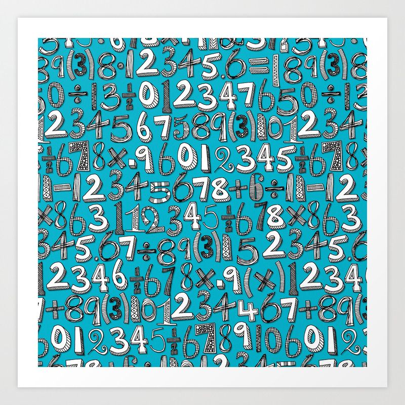 Blue, Collage, Color and Number Art Prints | Society6