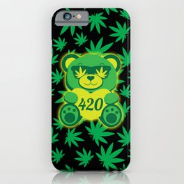 420 Teddy Bear iPhone Case