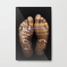 Beach Feet Metal Print