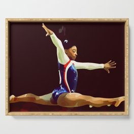 Gymnast Serving Tray