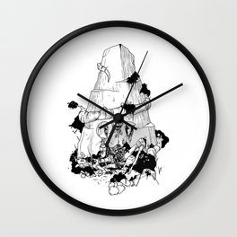 Flores de plastico Wall Clock