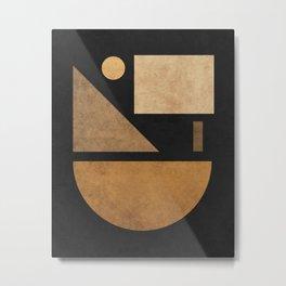 Geometric Harmony Black 03 - Minimal Abstract Metal Print