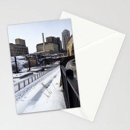 Minneapolis, Minnesota Skyline at the Stone Arch Bridge Stationery Cards