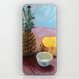 Pineapple in paint iPhone Skin
