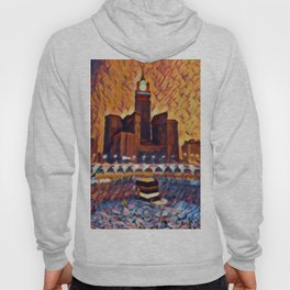 Saudi Arabia Mecca Artistic Illustration Closed Environment Style Hoody