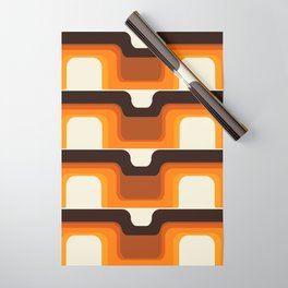 Mid-Century Modern Meets 1970s Orange Wrapping Paper