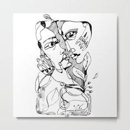 Couple In Love Lira Edition Metal Print