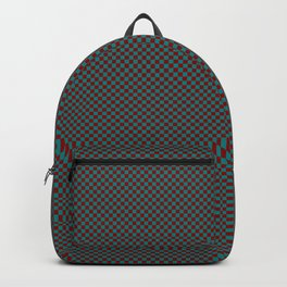 Burgundy and sea green squares Backpack